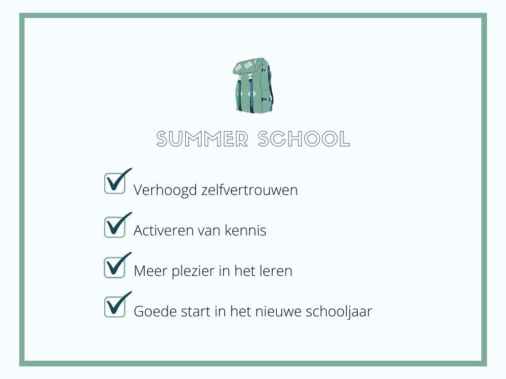 Voordelen van Summerschool- Stipt-Leren